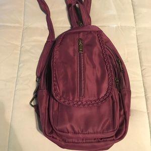 Handbags - NWOT Mauve Nylon Backpack Purse